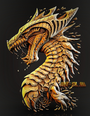 dragon 3d model stl file