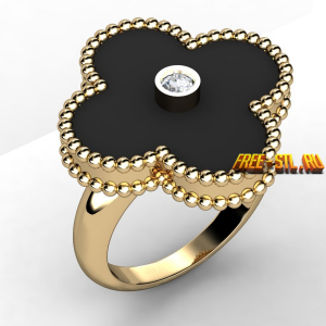 3d STL models for CNC jewelry ring